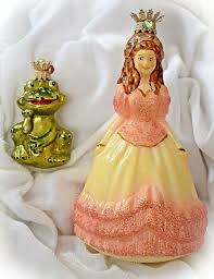 Märchenset 2b Christbaumschmuck Glas Lauscha Prinzessin Mit