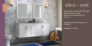 white double sink bathroom vanity with
