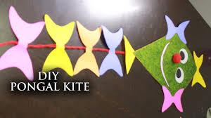 How To Make Designer Kite Diy Pongal Kite Decorator Useful Crafts With Waste Material Krafts N Creations