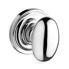 Baldwin Reserve Series Ellipse Knob with Traditional Round Rosette