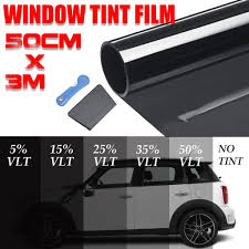 50cm X 3m Car Window Tint Film One Way Mirror Auto Home Solar Reflective Tinting Film 5 50 Vlt