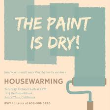 Paint Housewarming Party Invitation