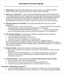 job interview template interview agenda template 8 free word pdf documents download