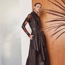 the faux leather d front long vest bcbgmaxazria