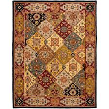 safavieh heritage multi red 9 ft x 12 ft area rug