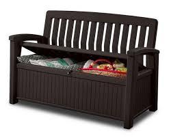porch storage bench. Unique Bench Outdoor Furniture Storage Deck Box Keter 60 Gallon Patio Pool Bench Seat  Brown On Porch L