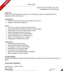 resumes for dental assistant sample dental assistant resume sample resume dental assistant skills
