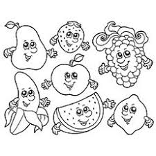 Free Printable Apple Watermelon Strawberry Banana Grape Coloring