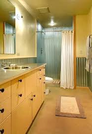 corrugated steel shower metal diy stall corrugated metal