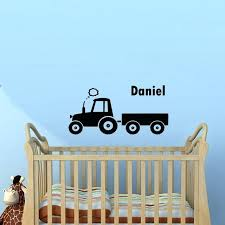 tractor wall decals plus tractor customized wall sticker boys room custom kids name wall decal home decor living room custom case tractor wall decals gda