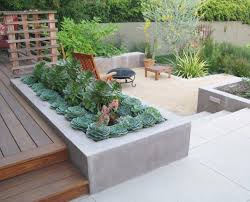 diy concrete built in deck planter