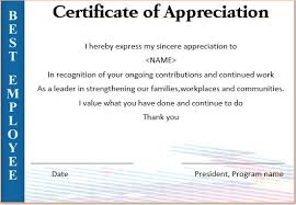 Words Of Appreciation For Employee 20 Free Certificates Of Appreciation For Employees Editable