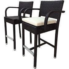 chairs laura bene sunflower wicker patio 30 inc bar stool with cushion set of 2