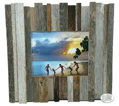 rustic picture frame x reclaimed beachcomber barn wood my frames 16x20 kitchen island lighting