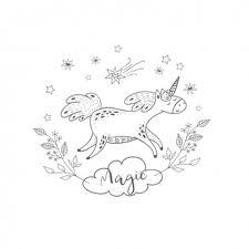Scheda Di Compleanno Con Unicorno Disegnato A Mano Scaricare