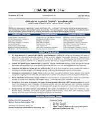 Resume Logistics Manager Therpgmovie