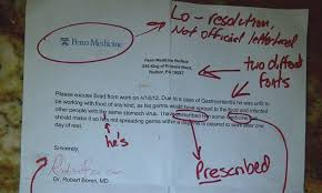 Flu Doctors Note Look How Not To Fake A Doctors Note Human Resources Online