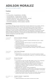 Service delivery manager resume cover letter ...