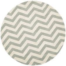 safavieh ham grey ivory 9 ft x 9 ft round area rug