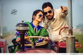 cute punjabi couple on tractor