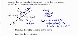calculating net force acceleration and net work