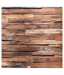 wall art rough wooden planks