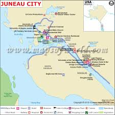 Southeast Alaska Chart Juneau Map The Capital Of Alaska Juneau City Map