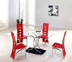 black ribbon red accent dining room wooden varnished chairs for interior brown high gloss set sideboard