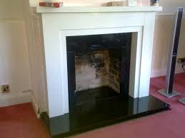 open fronted solid fuel fireplace marble surround granite