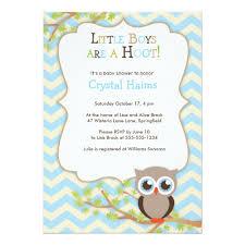 Chevron Owl Themed Baby Shower Invitations  Boy  ZazzlecomOwl Baby Shower Invitations For Boy