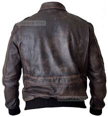 men s a 2 aviator navy air force flight distressed real leather er jacket