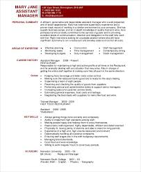 Assistant Manager Restaurant Resume Unique Manager Resume Sample Templates 48 Free Word PDF Documents
