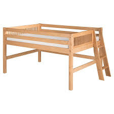 full size low loft bed camaflexi full size low loft bed mission headboard lateral