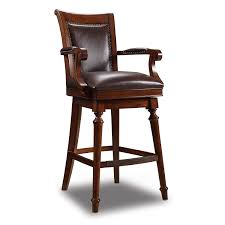 furniture merlot brown leather barstool hover to zoom