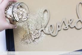 glitter wall art glam decor diy