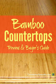 bamboo countertop with fancy edge detail text overlay bamboo countertops review er s guide