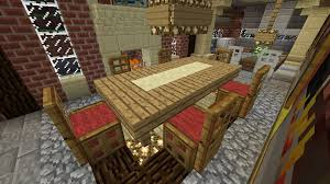 Minecraft Furniture Chairs and table with runner Wool base