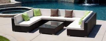 Black Wicker Outdoor Sectional