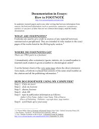 How To Footnote
