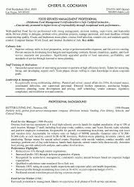 Food Service Resume Objective Examples Foodcity Me Shalomhouse