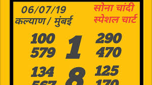 Kalyan 8 7 19 Special Chart Sona Chandi Fix Kalyan Game