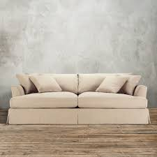 Most Comfortable Living Room Furniture Stylish Off White Slipcovered Sofa Small Living Room Design