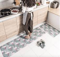 gray pvc pink flamingo kitchen rugs flamingo rugs with free for home decor