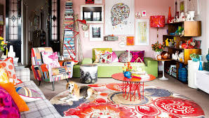 Colourful Eclectic Living Room Prints Dog Apr Home Tour Vibrant And Not For  The Colour Shy