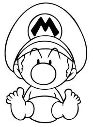 Small Picture Video Games Coloring Pages Baby Mario Coloring Pages Mario Kart