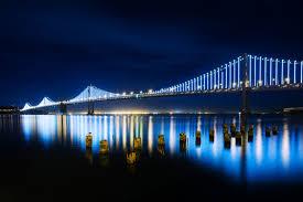 Blue Light In San Francisco Sky California San Francisco City County Golden Gate