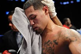 Michael Perez towels off following the fight against Miguel Zuniga at Barclays Center's Cushman & Wakefield Theater on September 30, 2013 in the Brooklyn ... - Michael%2BPerez%2BSadam%2BAli%2Bv%2BJay%2BKrupp%2B6fzn9PX05eml