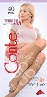 Купить <b>Гольфы</b> Conte Elegant Tension Soft <b>40 Den</b> Nero с ...