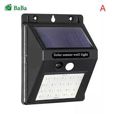 Đèn LED Cảm Ứng Chống Nước BaBa Đèn Khẩn Cấp Gắn Tường Ngoài Trời Vườn Đèn  Sạc Năng Lượng Mặt Trời
