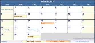 october 2017 calendar canada monthly calendar template